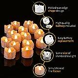 Kasimir e kerzen LED Kerzen Flammenlose 15 Stück Teelichter mit Timer 6 Std an - 18 Std aus - Realistisches Flammenflackern Für Hochzeiten Feste Partys usw. Inkl CR2032 Batterien Bernstein - 3