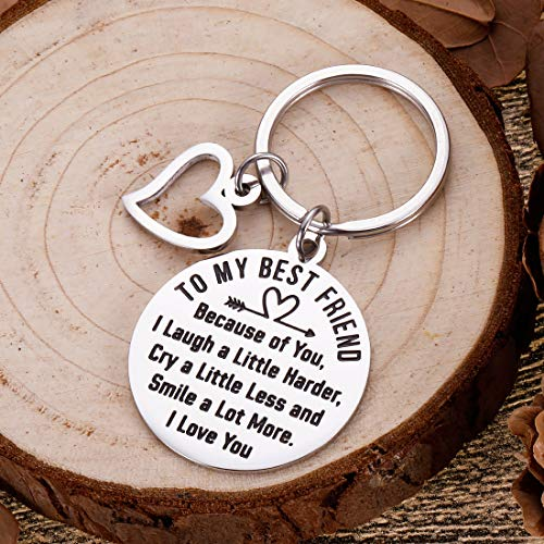Friendship Gifts to Best Friends Valentine Appreciation Keychain Birthday Gifts for Teenage Girls Women Friends BFF Besties Gal Friends Thank You Gifts Wedding Gifts for Sisters Him Her Key Ring