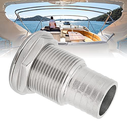 Surebuy Conector De Montaje A Través del Casco, Conector Pequeño A Través del Casco para El Medio Ambiente En Barcos Marinos para Conector De Montaje A Través del Casco(11/4')
