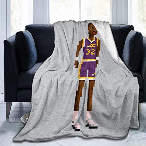 YSJYSJ Karl Malone Body Pixel Fleece Franela Manta Ligera Ultra Suave Manta de Cama cálida Ajuste para sofá Adecuado