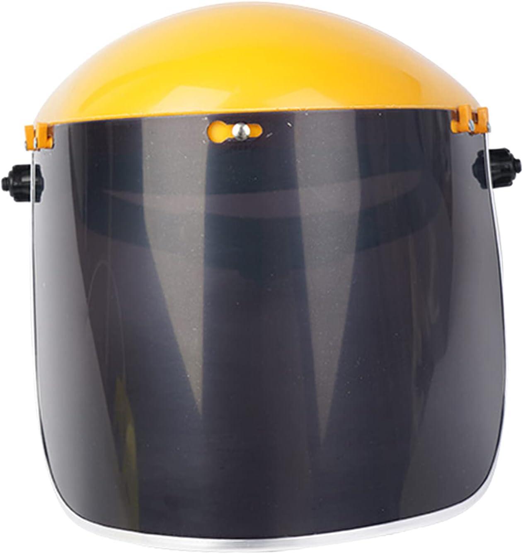 B Blesiya Soldadura eléctrica de PVC, máscara de ojos, capucha, protección para los ojos, protección para la soldadura ARC MIG TIG de molienda - Amarillo