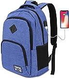 YAMTION Mochilas Escolares Juveniles,Mochila para portátil con Puerto de Carga USB,para Escolar...