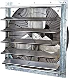 """iLIVING ILG8SF24V Wall Mounted Exhaust Fan, 24"""" - Variable, Silver"""