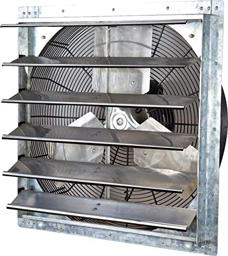 iLIVING ILG8SF24V Wall Mounted Exhaust Fan, 24' - Variable, Silver