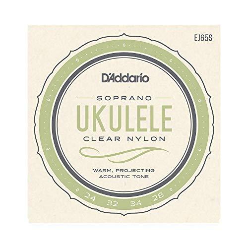 D'Addario EJ65S Pro-Arté Custom Extruded Nylon. Cuerdas para ukelele, soprano