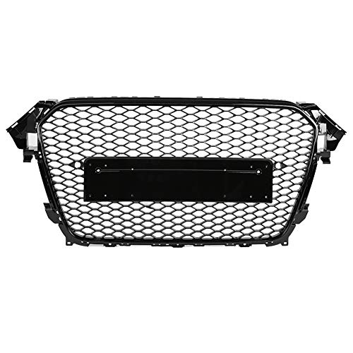 KIMISS Aoto Grill Hex Mesh, Auto Nesh Grill parachoques delantero grill RS4 honeycomb grill para A4 / S4 B8.5 13-16