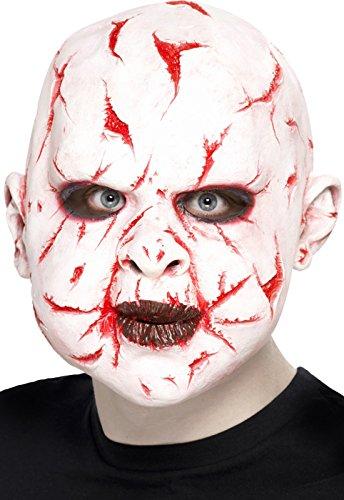 Party Discount Nouveau Masque à partir de Latex, Scar-Face, Blanc 1 PC