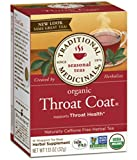 Traditional Medicinals Throat Coat, Seasonal Tea, Organic, 16 CT (Throat Coat, Pack - 3)