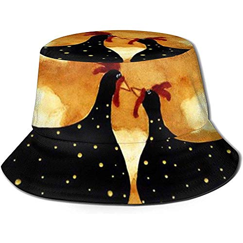 William Bacon Bucket Hat Packable Reversible Zwei Truthähne Drucken Sonnenhut Fischerhut Cap Outdoor Camping Angeln Safari