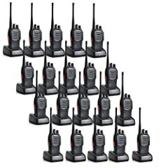 Walkie Talkie Model: Baofeng BF-888S;16 channel; Each radio has a earpiece. High Illumination Flashlight. PC Programmable Frequency Range: 400-470MHz; Low battery alarm; 50 CTCSS/105 CDCSS.Operating Voltage:3.7 V 1500mAh Li-ion battery; Low Voltage A...
