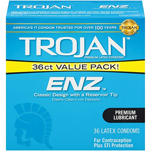 Trojan ENZ Lubricated Condoms, 36ct