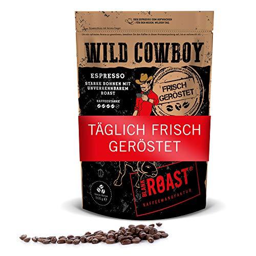 BLANK ROAST Wild Cowboy Frisch geröstete Kaffeebohnen Bohnen Kaffee Crema 500 g, Espresso, 500g ganze Bohne