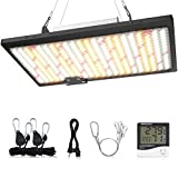 WAKYME J-1000W LED Grow Light Waterproof 2x4ft Dimmable Sunlike Full Spectrum Grow Lamp Plant Light with Fan for Hydroponic Indoor Seedling Veg and Flower Greenhouse Growing Light with 350pcs LEDs