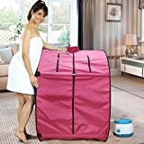 Kawachi Foldable Steam Sauna Bath With Single Layer Heat Resistant Cabin For Home And Beauty Spa I03-Pink