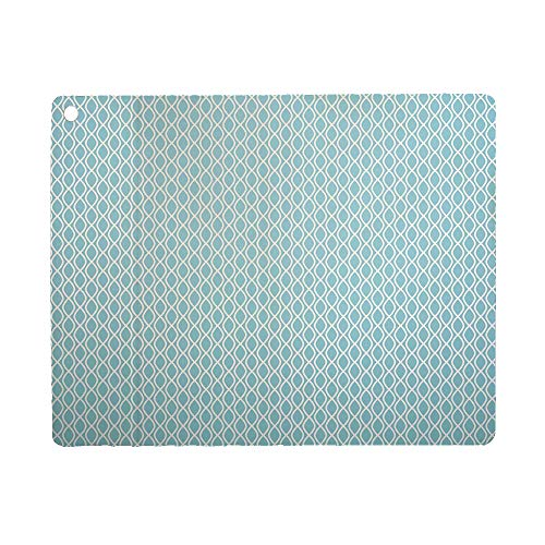 Modern Case for iPad 9.7 2018 2017(6th Gen, 5th Gen)/iPad Air 2/iPad Air,PU Leather Case with Stand Function/Auto Sleep Wake Up Light Blue and White