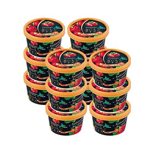 【北海道浦河産 いちご農家直送 夏いちごアイスセット】夏いちごをおしみなく55%も使用。甘酸っぱいさわやかさと濃厚なバニラアイスがまじわる、夏いちごが主役の贅沢な味わい。2019年北のハイグレード食品Sセレクションを獲得。ギフト (夏いちごアイス 6個)