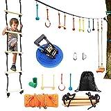 YGJT Arrampicata Corda Set per Bambini, con Corda Scala da Arrampicata, Set per Arrampicata a Parete per Parco Giochi