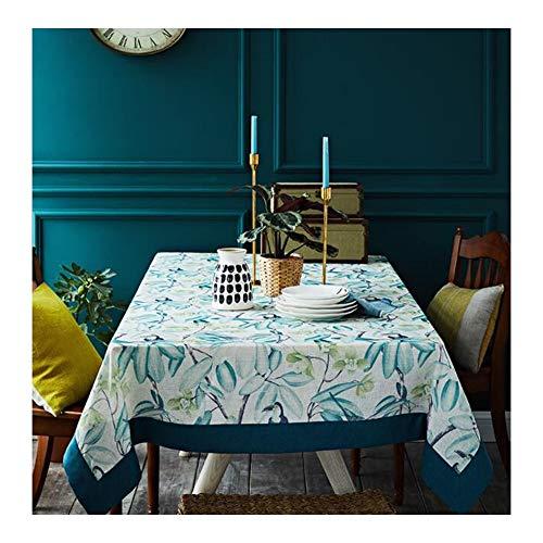 TAO MANTELES nórdico Europeo Americano Tela IKEA Pequeño Claro Ins Viento Tabla de té Mantel Rectángulo (Size : 130 * 130cm)