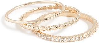 Shashi 女式 Aura 镀金戒指套装