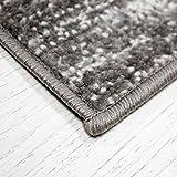 VIMODA Stern Jugendzimmer Wohnzimmer Teppich Grau Trendiger Kurzflor Teppich Stern Stylish Accessoire, Maße:120x170 cm - 4