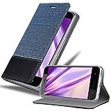 Cadorabo Hülle für HTC U11 Life in DUNKEL BLAU SCHWARZ - Handyhülle mit Magnetverschluss, Standfunktion & Kartenfach - Hülle Cover Schutzhülle Etui Tasche Book Klapp Style