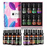 Essential Oils Set for Diffuser 100% Pure Aromatherapy Oils Gift Set Top 8x10 ML Therapeutic Grade Oils,Lavender,Mint,Lemongrass,Tea Tree,Grapefruit,Eucalyptus,Sweet Orange,Relieving Relaxing