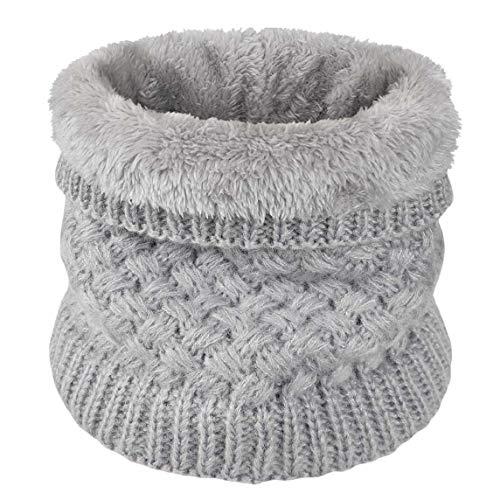 Yuson Girl Sciarpa in maglia unisex, Inverno scamosciato spessore scaldino per sciarpa per donne e uomini sciarpa - Migliore regalo (grigio)
