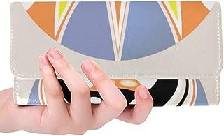 Rfid Blocking Purse Wallet Clutch Wristlet Chinese Peking Opera Masks Checkbook Wallets For Women Trifold Leather Women Wallet Bag Credit Card Holder Case Handbag