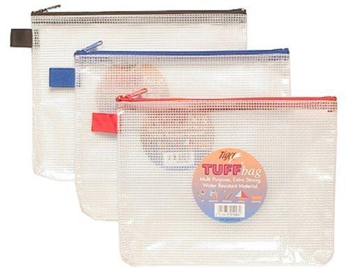 Tiger 301023 - Estuche de plástico (A5, resistente al agua, material de malla reforzada), 1 unidad, colores surtidos
