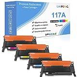 4 Colores Cartucho de Tóner Compatible 117A W2070A W2071A W2072A W2073A 1000 Páginas Negro & 700 Páginas C/M/Y para HP 150a 150w 150nw MFP 178nw 178nwg 179fnw 179fwg Impresoras Láser con Chip