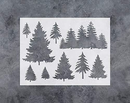 GSS Designs Baumschablone – Große Baumschablone zum Malen und Basteln (30,5 x 40,6 cm) – wiederverwendbare Schablonen für Fenster, Wand, Möbel, Stoff, Holzdekor (SL-031)