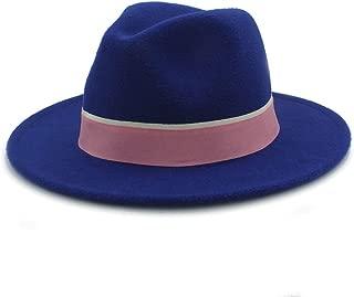 SHENTIANWEI Men Women Winter Fedora Hat Outdoor Travel Hat Wide Brim Church Fascinator Hat Casual Wild Jazz Hat Size 56-58CM