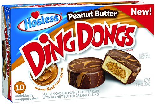 Hostess Peanut Butter Ding Dongs - 10 Cakes - 420g - Ding Dong's …