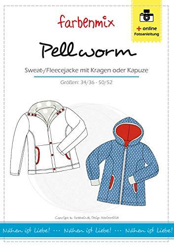 Pellworm Farbenmix Schnittmuster (Papierschnittmuster für die Größen 34/36 - 50/52) Fleecejacke
