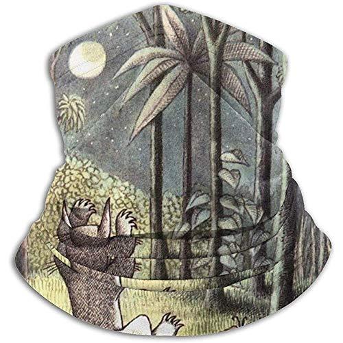 Bufanda De Tubo,Diademas,Pañuelo para La Cabeza,Donde The Wild Things Son Pasamontañas Elástico,Sombreros De Invierno con Capucha,Cinta para El Pelo Al Aire Libre,Sombreros Suaves