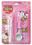 Sanrio Hello Kitty Flatware Tableware Cutlery Utensil Set for Right-handed Kids Children – Stainless Steel Training Chopsticks Spoon Portable Case, 3 pieces