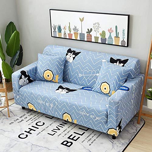 Cubierta para sofá con Cuerda de fijación,Funda de sofá elástica con patrón impreso, funda de cojín universal para todas las estaciones, funda de sillón antiincrustante para sala de estar, funda de p
