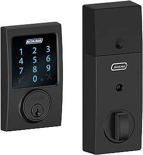 Schlage Connect Century Touchscreen Deadbolt Smart Lock w/ Alarm (Matte Black)