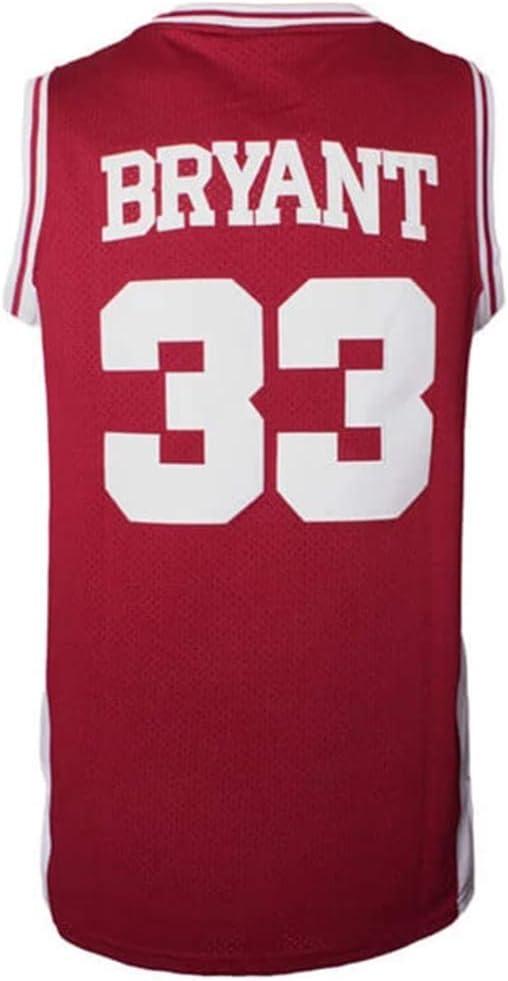 Amazon.com: ETN Men's Basketball Jersey Bryant #33 Stitched High ...