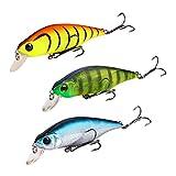 lzndeal 3 Pcs/Set 8.5cm leurres de Pêche défini appât carnassiers brochet Accessoires de pêche Our Bass Trout Dyleye Redfish