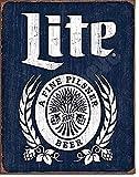 617 Miller Lite Brewing Botella de Cerveza Logo Weathered Retro Bar Pub Wall Art Decor Metal Aluminio Señal 8' x 12'