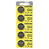 Toshiba CR2032 Battery 3V Lithium Coin Cell (5 Batteries)