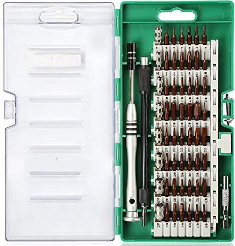 Juego de destornilladores de precisión, herramientas de mano de bricolaje, conjunto de destornilladores de precisión 60 en 1, herramienta Magnetic Mini Driver Kit de reparación Electrónica para PC Lap