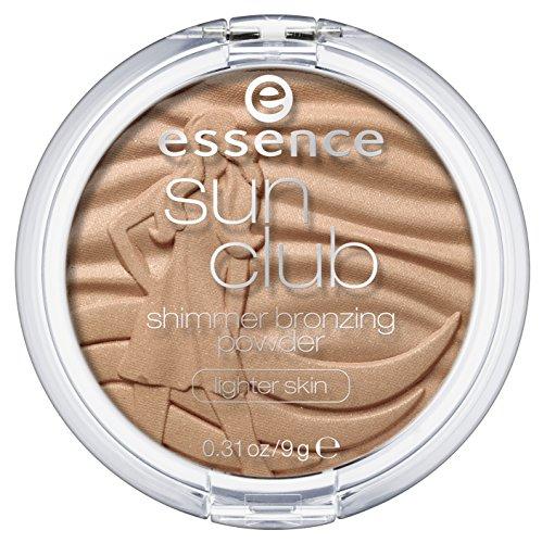Essence Sun Club shimmer bronzing powder for lighter skin Nr. 30 sunloved Inhalt: 9g Bronzing Puder mit zarten Schimmer für helle Hauttypen.
