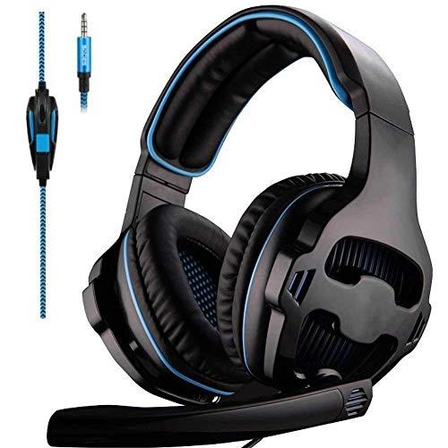 Auriculares con cancelación de Ruido con micrófono Control de Volumen de Gato de 3.5 mm, Memoria Suave para computadora portátil/PC/TV/Switch Games Black (Color: Negro) YXF99 (Color : Black)