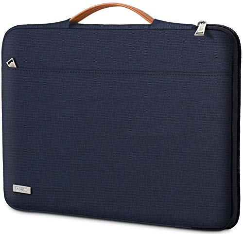 TECOOL Custodia Laptop Borsa per MacBook Air/PRO 13 Pollici, 13,5 Surface Laptop 3/2, Huawei MateBook D 14, ASUS Zenbook 14 Sleeve Tablet Notebook Case con Maniglia Retrattile, Blu Scuro