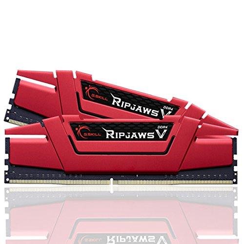G.Skill RipjawsV Series F4-2400C15D-16GVR 16 GB Memoria RAM (8 gbx2) Kit de Memoria DDR4 2400 MHz C15 1,2 V - roja de ira