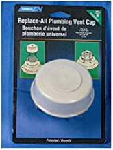 Camco Replace-All Plumbing Vent Cap with Spring Attachment - Replaces Lost or Damaged RV Plumbing Vent Caps | Fits Up to 2