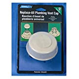 Camco Replace-All Plumbing Vent Cap with Spring Attachment - Replaces Lost or Damaged RV Plumbing Vent Caps | Fits Up to 2' Plumbing Vent Pipe - White (40034)