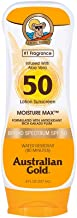 Australian Gold Sunscreen Lotion SPF 50, 8 Ounce | Moisture Max | Infused with Aloe Vera | Broad Spectrum | Water Resistant